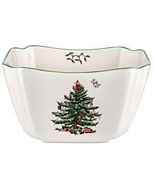 Christmas Tree Small Square Bowl