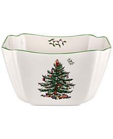 CLOSEOUT! Christmas Tree Small Square Bowl