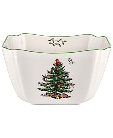 Spode Christmas Tree Small Square Bowl