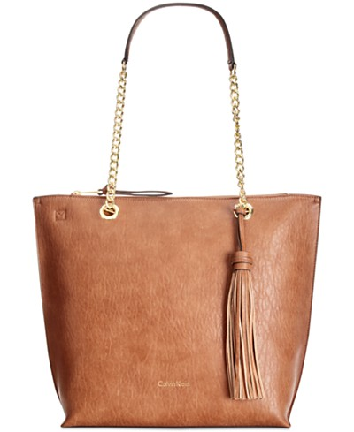 Calvin Klein Unlined Chain Tote