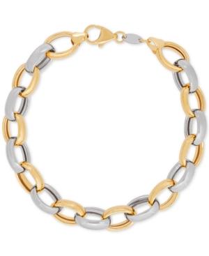 Two-Tone Open Link Bracelet...
