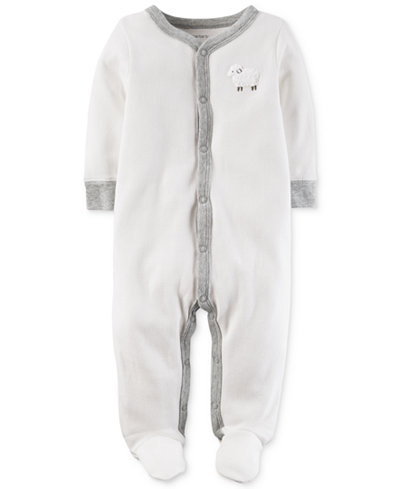 Carter's Baby Boys & Girls 1-Pc. Lamb Thermal Footed Coverall