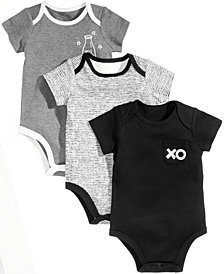 First Impressions 3-Pk. XO Milk Cotton Bodysuits, Baby Boys & Girls, Created for Macy's