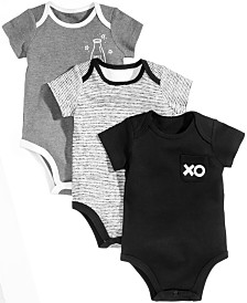 First Impressions Baby Boys & Girls 3-Pk. XO Milk Cotton Bodysuits, Created for Macy's