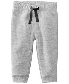 First Impressions Baby Boys Heathered Jogger Pants, Created for Macy's