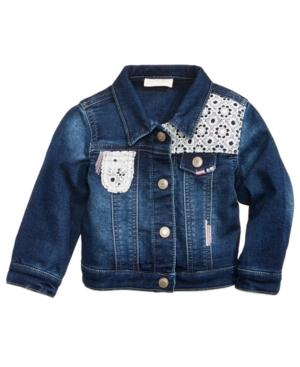 First Impressions Crochet Denim Jacket Baby Girls (024 months) Created for Macys