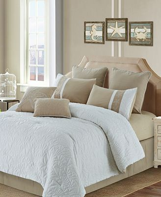 CLOSEOUT! Colette Reversible 8-Pc. Quilted Queen Comforter Set
