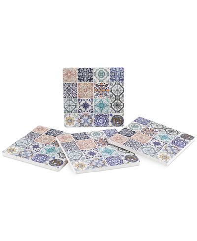 Thirstystone Lisbon Tiles 4-Pc. Coaster Set