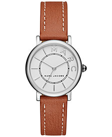 Marc Jacobs Women's Roxy Tan Leather Strap Watch 28mm