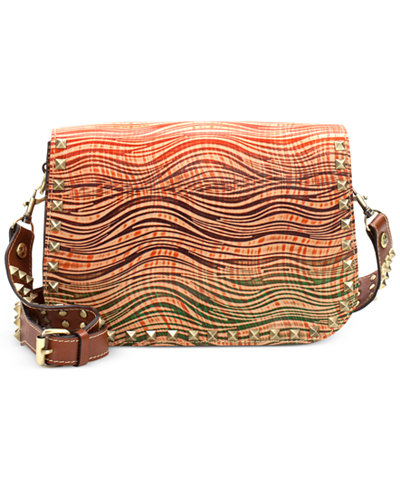 Patricia Nash Wavy Striped Vitellia Large Flap Messenger