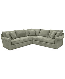 Doss II 3-Pc. Fabric Sectional with Apartment Sofa