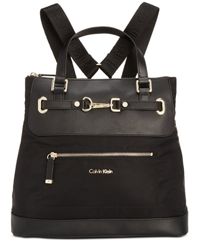 Calvin Klein Lianna Convertible Backpack - Handbags & Accessories ...