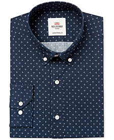 Ben Sherman Men's Slim-Fit Blue & White Triple Dot Dress Shirt