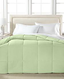 Lightweight Microfiber Color Down Alternative Full/Queen Comforter, Hypoallergenic Polyester Fiberfill