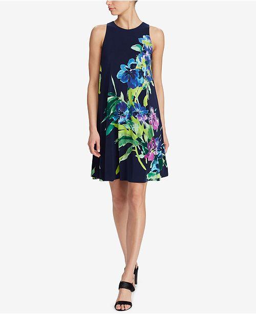 016d600c65 Lauren Ralph Lauren Floral-Print Trapeze Dress   Reviews - Dresses ...