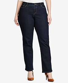 Lauren Ralph Lauren Plus Size Modern Curvy Straight-Leg Jeans