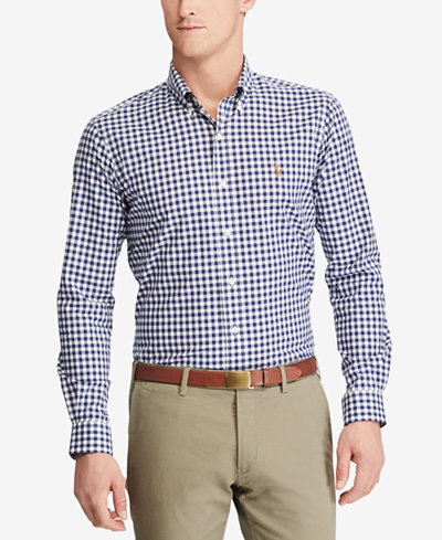 Polo Ralph Lauren Men's Slim Fit Gingham Shirt - Casual Button ...