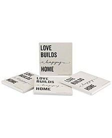 Love Builds A Happy Home 4-Pc. Coasters Set