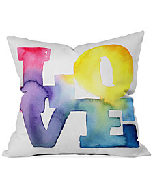 "Deny Designs CMYKaren Love  16"" Square Decorative Pillow"