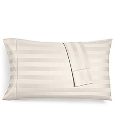 CLOSEOUT! Ivory Stripe Standard Pillowcase Set, 550 Thread Count 100% Supima Cotton, Created for Macy's
