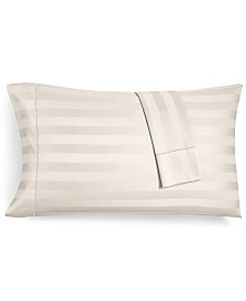 Charter Club Damask Ivory Stripe Standard Pillowcase Set, 550 Thread Count 100% Supima Cotton, Created for Macy's