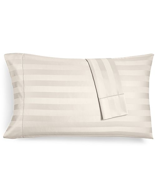 Charter Club CLOSEOUT! Ivory Stripe Standard Pillowcase Set, 550 Thread Count 100% Supima Cotton, Created for Macy's