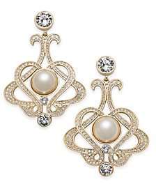 Nina Imitation Pearl and Swarovski Crystal Drop Earrings