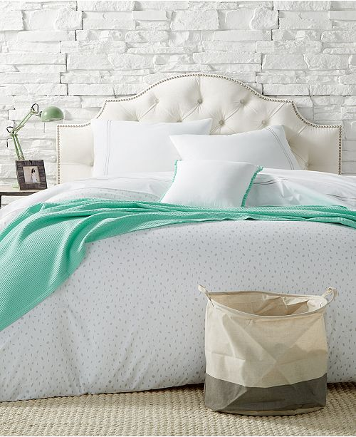 Remodo For Macy's 9-Pc. Ash Slanted Dots Full/Queen Comforter Boxed Room, Created for Macy's
