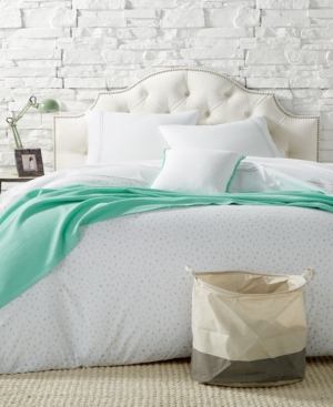 Remodo For Macys 9Pc Ash Slanted Dots Twin Xl Duvet Cover Boxed Room Created for Macys Bedding