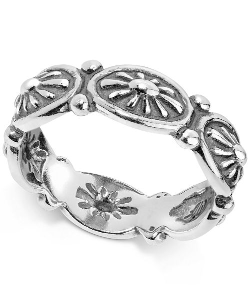 American West Concha Ring in Sterling Silver