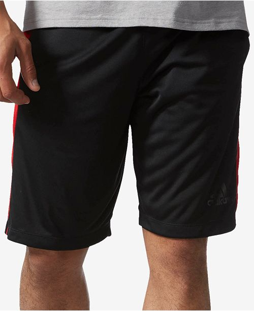 "adidas Men's 10"" D2M 3-Stripe Training Shorts"