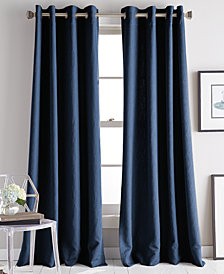 "DKNY Avenue 50"" x 84"" Jacquard Grommet Curtain Panel"