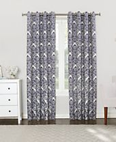 Sun Zero Courtney Damask Blackout Lined Grommet Curtain Panel Collection