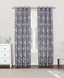 "Sun Zero Courtney 52"" x 63"" Damask Blackout Lined Grommet Curtain Panel"