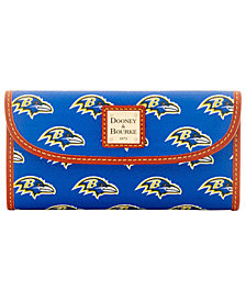 Dooney & Bourke Baltimore Ravens Large Continental Clutch