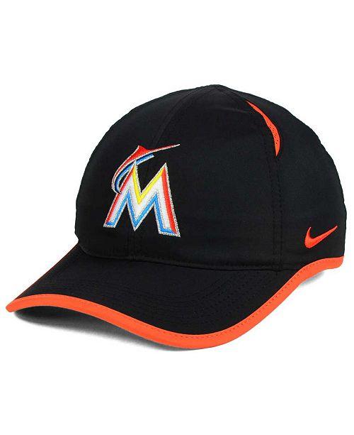 337783e0811 Nike Miami Marlins Dri-FIT Featherlight Adjustable Cap   Reviews ...