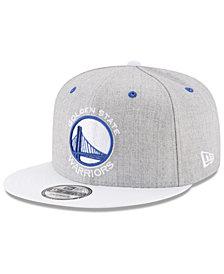 New Era Golden State Warriors White Vize 9FIFTY Snapback Cap