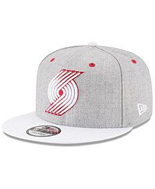 New Era Portland Trail Blazers White Vize 9FIFTY Snapback Cap