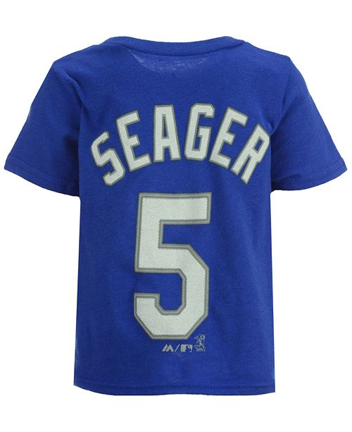 Majestic Corey Seager Los Angeles Dodgers Official Player T-Shirt, Infant Boys (12-24 months)