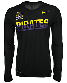 Nike Men's East Carolina Pirates Legend Staff Sideline Long Sleeve T-Shirt
