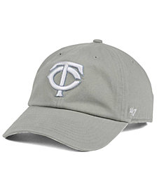 '47 Brand Minnesota Twins Gray White CLEAN UP Cap