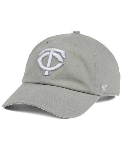 '47 Brand Minnesota Twins Gray White CLEAN UP Cap