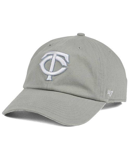 Minnesota Twins Gray White CLEAN UP Cap
