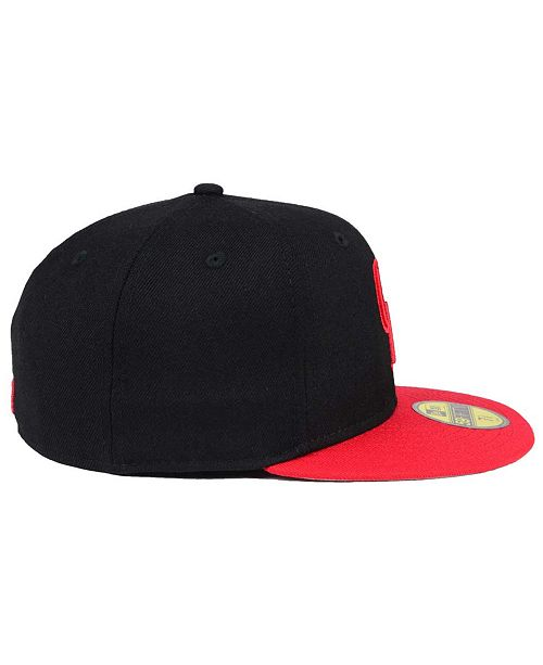 new product 51cb1 5831e New Era Colorado Rockies Black   Red 59FIFTY Fitted Cap ...