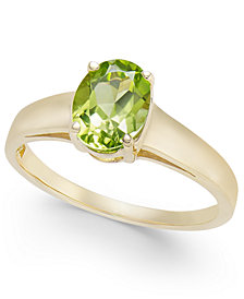 Peridot Solitaire Ring (1-1/2 ct. t.w.) in 14k Gold