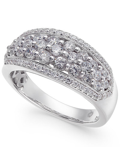 Diamond Cluster Ring (1 ct. t.w.) in 14k White Gold