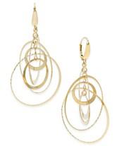 ce1c71aa4 Italian Gold Multi-Circle Orbital Drop Earrings in 14k Gold