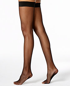 DKNY Women's  Fishnet Thigh Highs