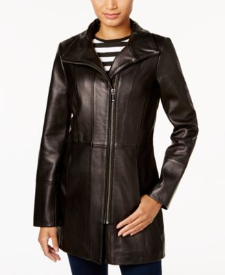 Asymmetrical Leather Jacket