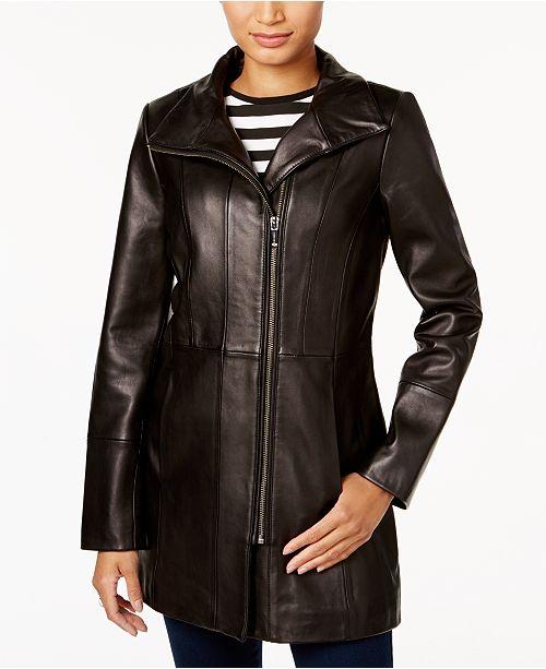Black Jacket Asymmetrical Haan Leather Cole qTISB